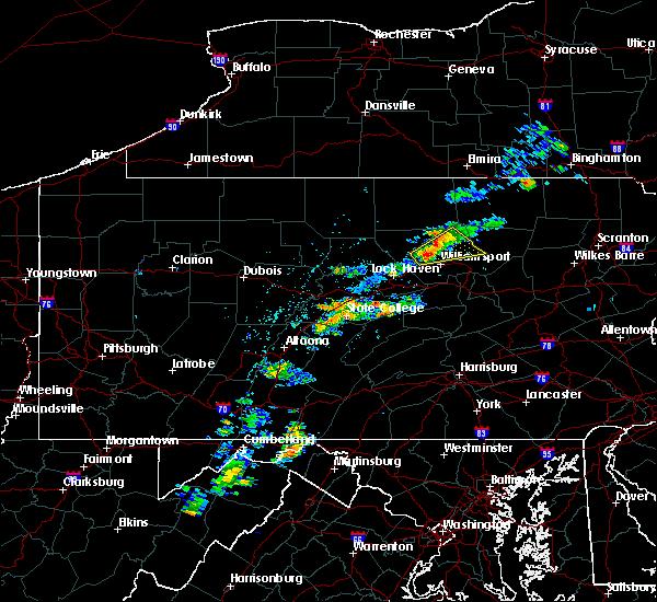 Radar Image for Severe Thunderstorms near Salladasburg, PA at 6/10/2020 1:59 PM EDT