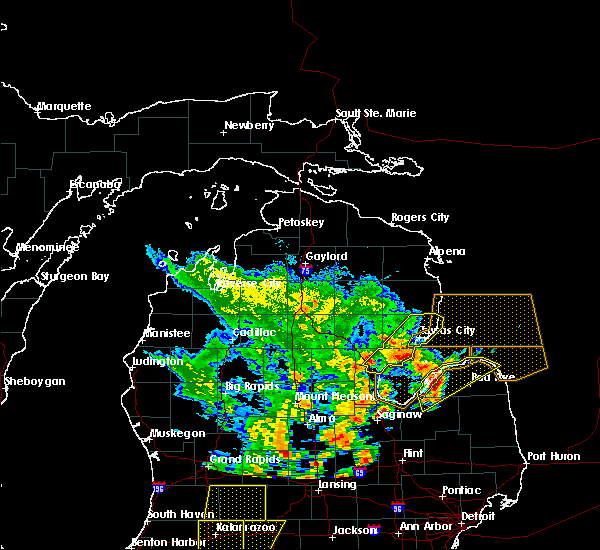 Radar Image for Severe Thunderstorms near Au Sable, MI at 6/10/2020 2:03 PM EDT