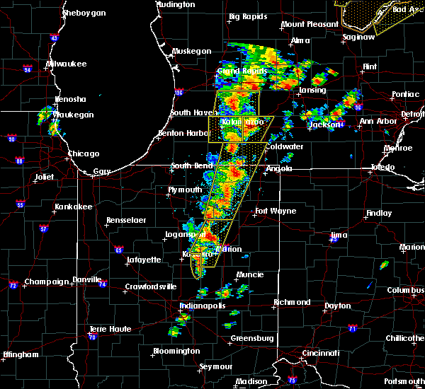 Radar Image for Severe Thunderstorms near Albion, IN at 6/10/2020 2:09 PM EDT