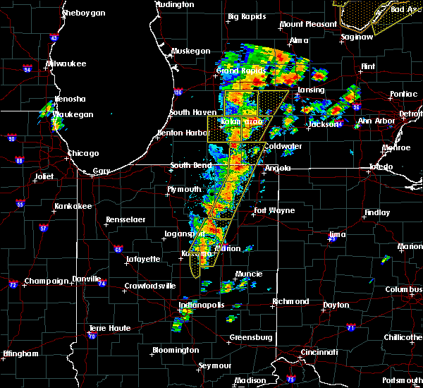 Radar Image for Severe Thunderstorms near Point Isabel, IN at 6/10/2020 2:16 PM EDT