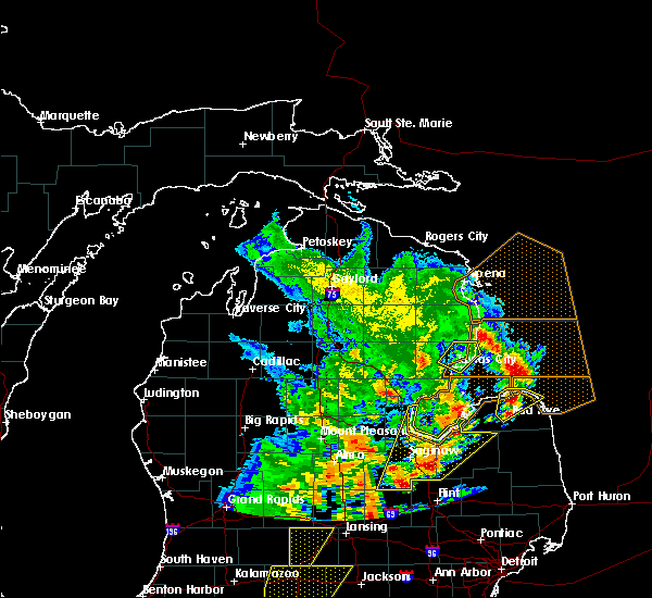 Radar Image for Severe Thunderstorms near Au Sable, MI at 6/10/2020 2:44 PM EDT