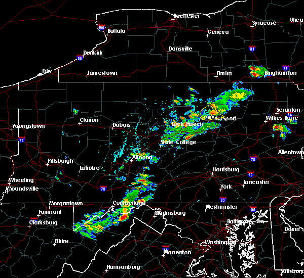 Radar Image for Severe Thunderstorms near Woodward, PA at 6/10/2020 2:52 PM EDT