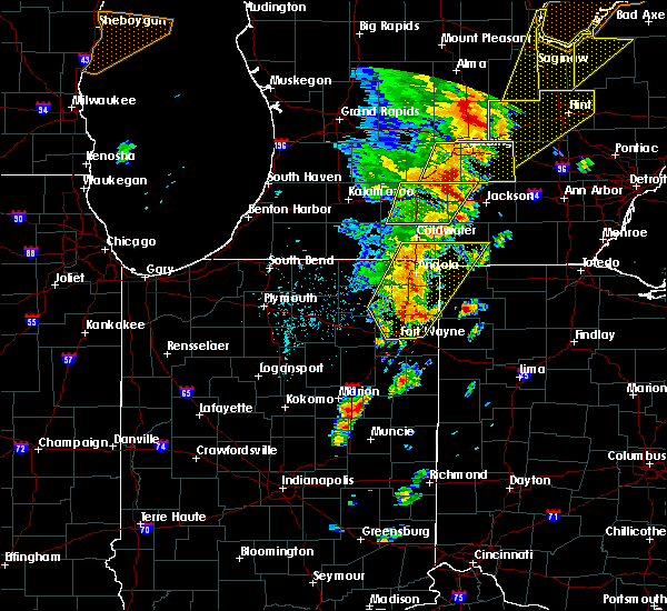 Radar Image for Severe Thunderstorms near Fort Wayne, IN at 6/10/2020 3:08 PM EDT