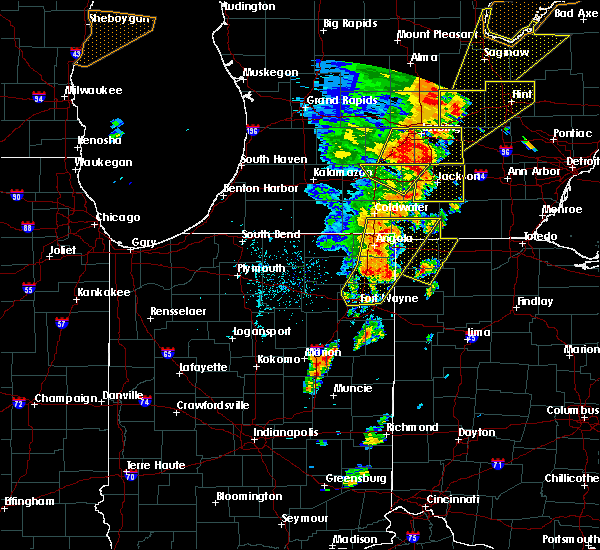 Radar Image for Severe Thunderstorms near Landess, IN at 6/10/2020 3:12 PM EDT