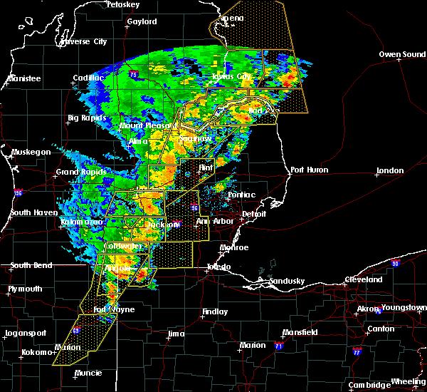 Radar Image for Severe Thunderstorms near Blissfield, MI at 6/10/2020 3:30 PM EDT