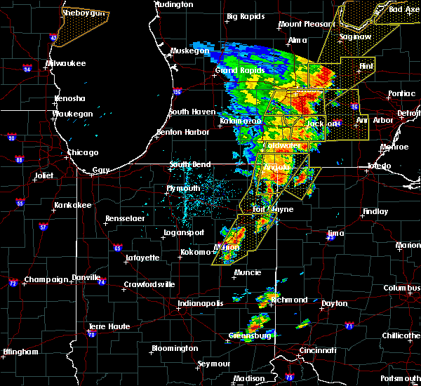 Radar Image for Severe Thunderstorms near Monroeville, IN at 6/10/2020 3:32 PM EDT