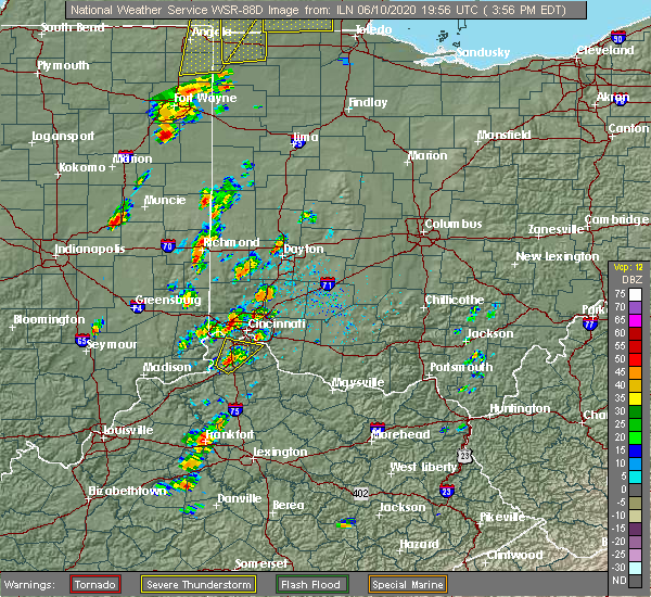 Radar Image for Severe Thunderstorms near Richmond, IN at 6/10/2020 4:00 PM EDT