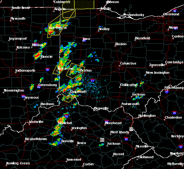 Radar Image for Severe Thunderstorms near Fairfax, OH at 6/10/2020 4:10 PM EDT