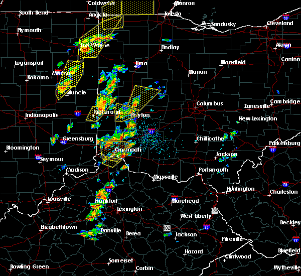 Radar Image for Severe Thunderstorms near Eldorado, OH at 6/10/2020 4:14 PM EDT