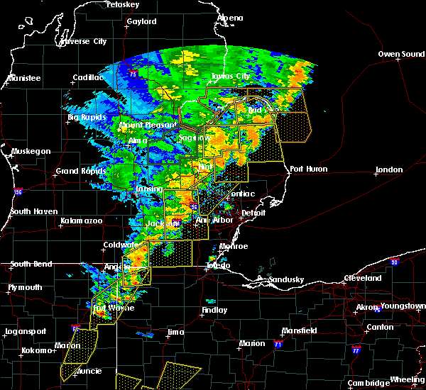 Radar Image for Severe Thunderstorms near Clayton, MI at 6/10/2020 4:18 PM EDT