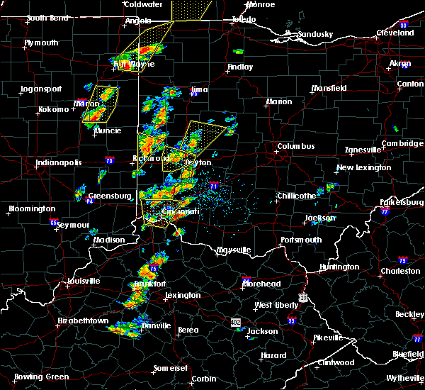 Radar Image for Severe Thunderstorms near Brookville, OH at 6/10/2020 4:20 PM EDT