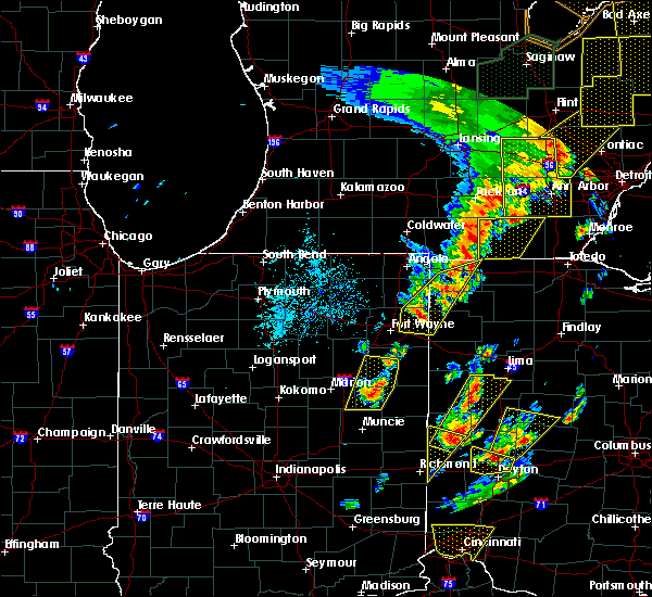 Radar Image for Severe Thunderstorms near Vera Cruz, IN at 6/10/2020 4:30 PM EDT
