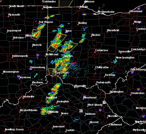 Radar Image for Severe Thunderstorms near St. Paris, OH at 6/10/2020 4:34 PM EDT