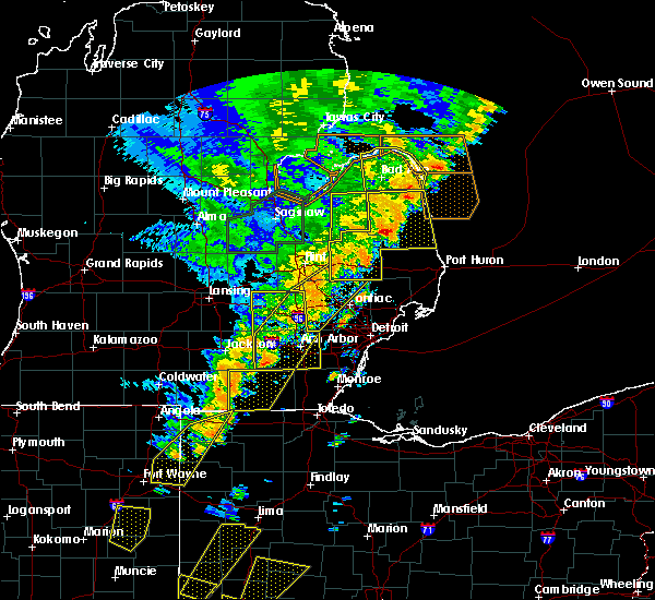 Radar Image for Severe Thunderstorms near Clayton, MI at 6/10/2020 4:35 PM EDT