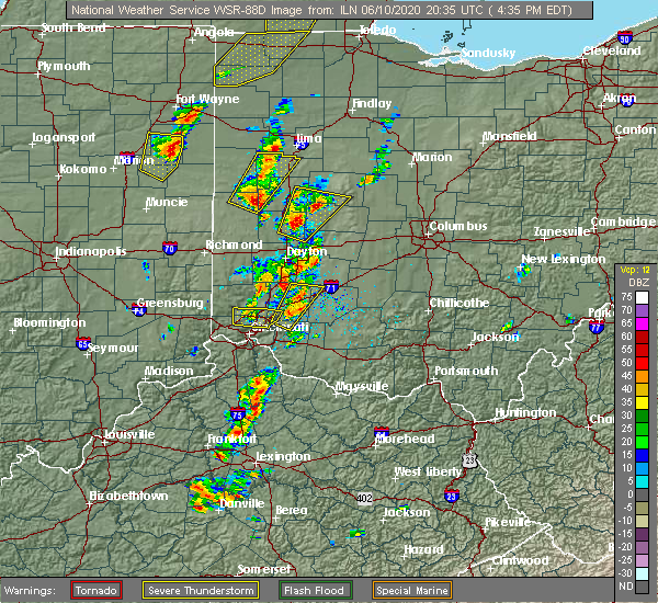 Radar Image for Severe Thunderstorms near Piqua, OH at 6/10/2020 4:41 PM EDT