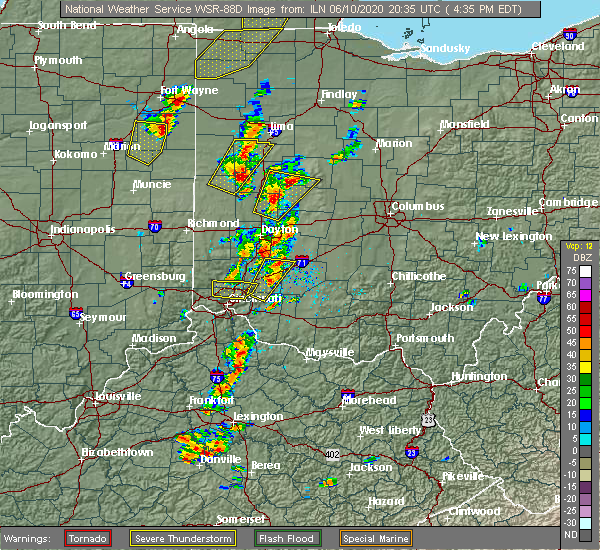 Radar Image for Severe Thunderstorms near St. Paris, OH at 6/10/2020 4:44 PM EDT