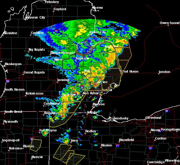 Radar Image for Severe Thunderstorms near Blissfield, MI at 6/10/2020 4:47 PM EDT