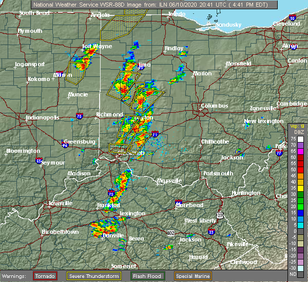Radar Image for Severe Thunderstorms near New Bremen, OH at 6/10/2020 4:49 PM EDT