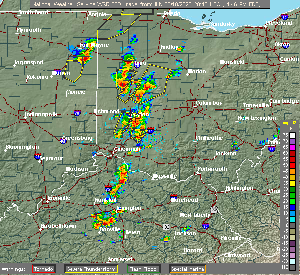 Radar Image for Severe Thunderstorms near Anna, OH at 6/10/2020 4:51 PM EDT