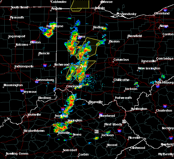 Radar Image for Severe Thunderstorms near Springfield, OH at 6/10/2020 4:54 PM EDT