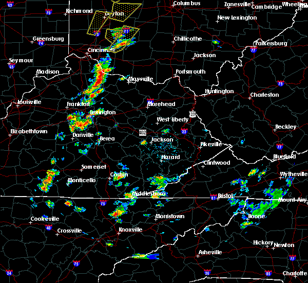 Radar Image for Severe Thunderstorms near Wilmore, KY at 6/10/2020 4:56 PM EDT