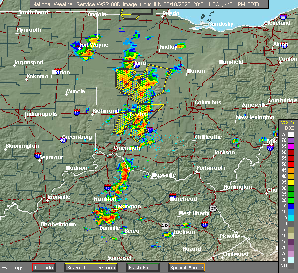 Radar Image for Severe Thunderstorms near St. Paris, OH at 6/10/2020 4:56 PM EDT