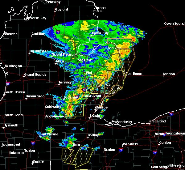 Radar Image for Severe Thunderstorms near Blissfield, MI at 6/10/2020 5:00 PM EDT
