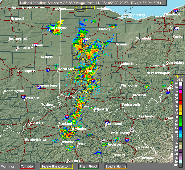 Radar Image for Severe Thunderstorms near Uniopolis, OH at 6/10/2020 5:01 PM EDT