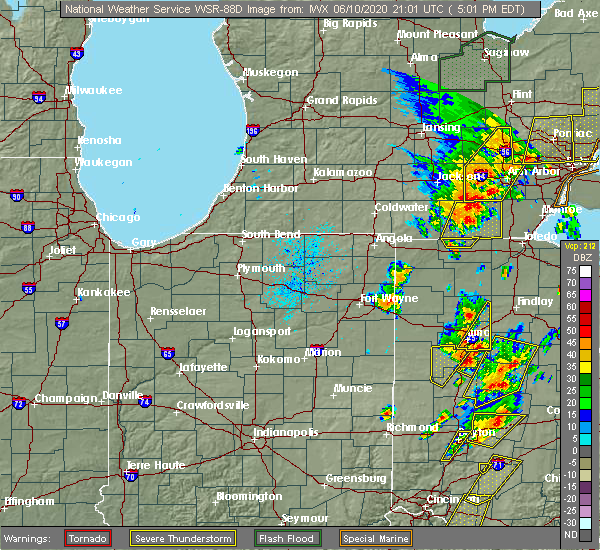 Radar Image for Severe Thunderstorms near Lafayette, OH at 6/10/2020 5:04 PM EDT