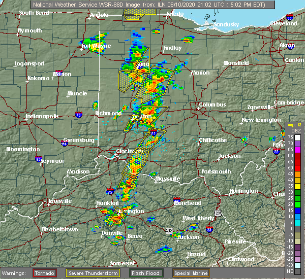 Radar Image for Severe Thunderstorms near Midland, OH at 6/10/2020 5:05 PM EDT