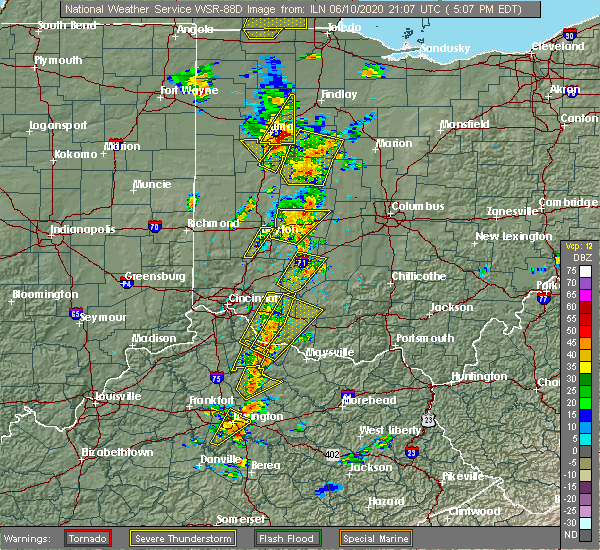 Radar Image for Severe Thunderstorms near Fort Shawnee, OH at 6/10/2020 5:12 PM EDT
