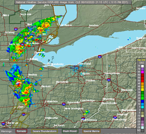 Radar Image for Severe Thunderstorms near Arlington, OH at 6/10/2020 5:17 PM EDT