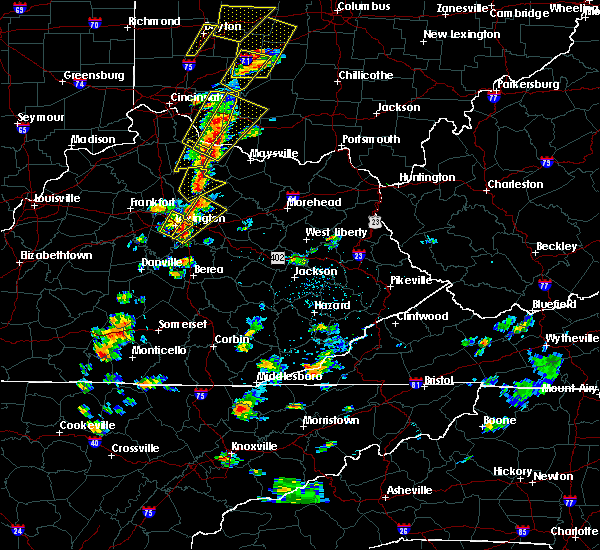 Radar Image for Severe Thunderstorms near Paris, KY at 6/10/2020 5:19 PM EDT