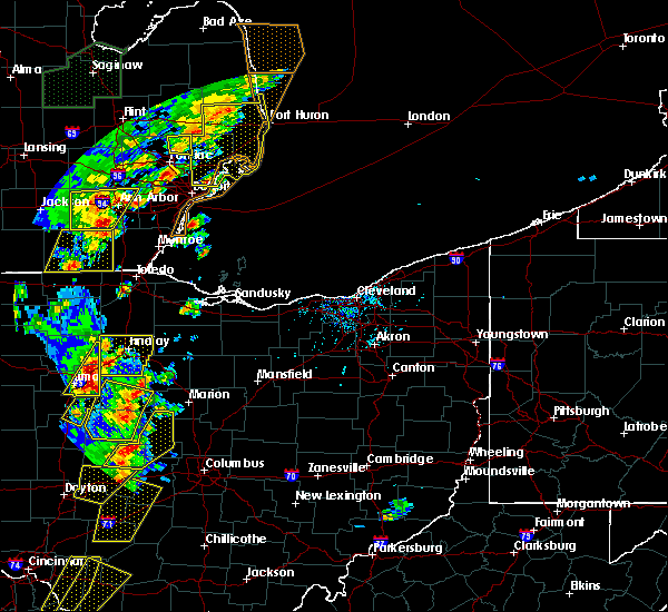 Radar Image for Severe Thunderstorms near Forest, OH at 6/10/2020 5:19 PM EDT