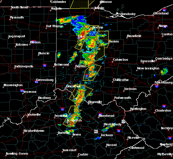 Radar Image for Severe Thunderstorms near Kenton, OH at 6/10/2020 5:24 PM EDT