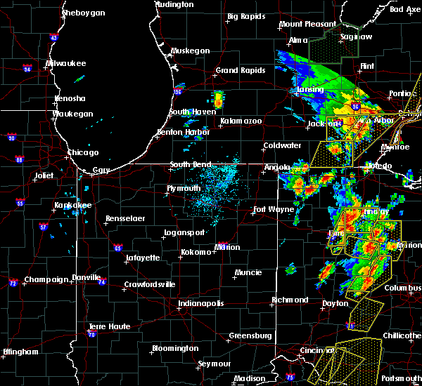 Radar Image for Severe Thunderstorms near Swanton, OH at 6/10/2020 5:32 PM EDT
