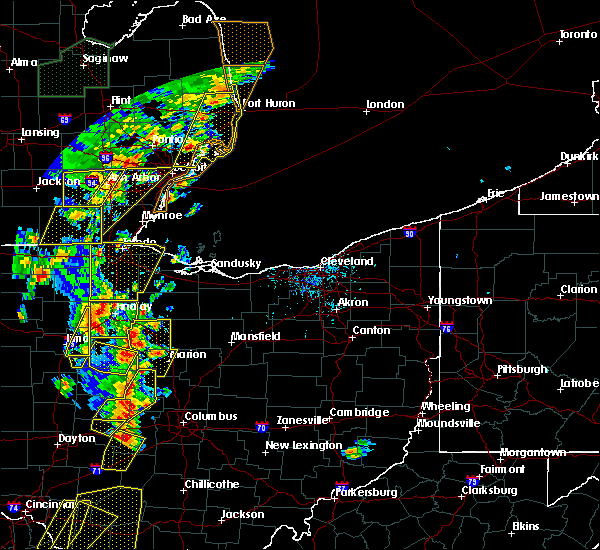 Radar Image for Severe Thunderstorms near Arlington, OH at 6/10/2020 5:34 PM EDT
