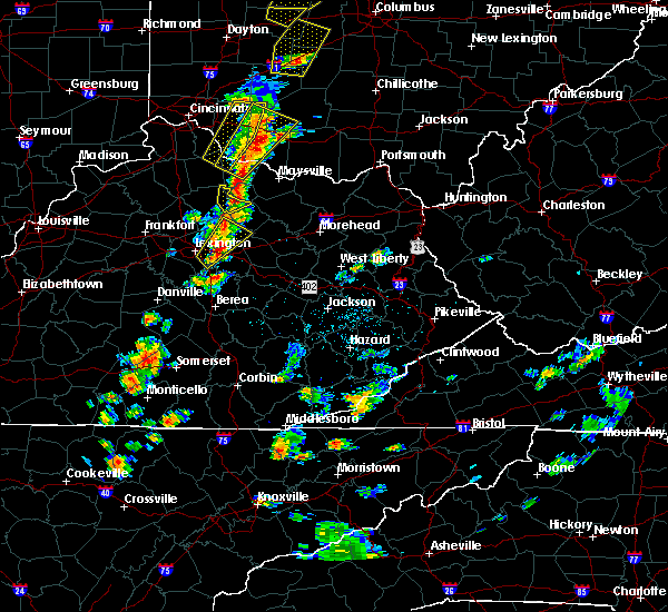 Radar Image for Severe Thunderstorms near Frenchburg, KY at 6/10/2020 5:35 PM EDT