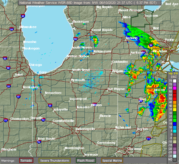 Radar Image for Severe Thunderstorms near Swanton, OH at 6/10/2020 5:42 PM EDT