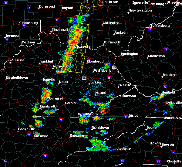 Radar Image for Severe Thunderstorms near Winchester, KY at 6/10/2020 5:45 PM EDT