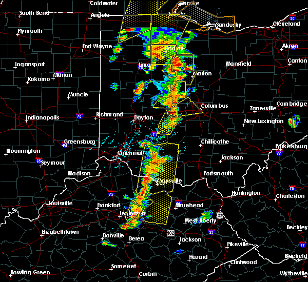 Radar Image for Severe Thunderstorms near Hillsboro, OH at 6/10/2020 5:47 PM EDT