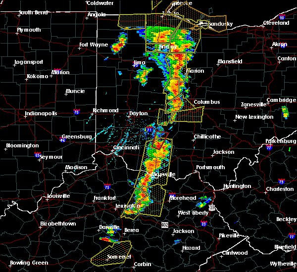 Radar Image for Severe Thunderstorms near Shawnee Hills, OH at 6/10/2020 5:53 PM EDT