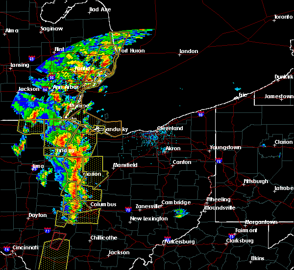Radar Image for Severe Thunderstorms near Swanton, OH at 6/10/2020 5:58 PM EDT