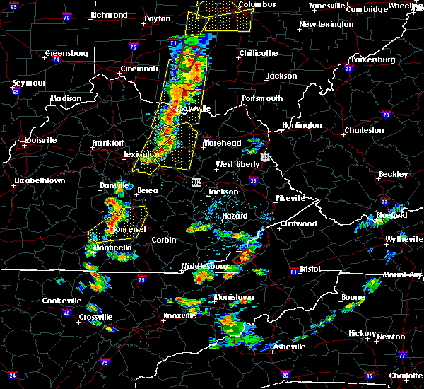 Radar Image for Severe Thunderstorms near Winchester, KY at 6/10/2020 6:01 PM EDT
