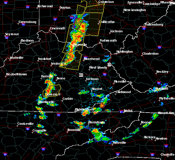 Radar Image for Severe Thunderstorms near Frenchburg, KY at 6/10/2020 6:02 PM EDT