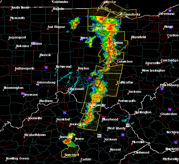 Radar Image for Severe Thunderstorms near Bentonville, OH at 6/10/2020 6:06 PM EDT