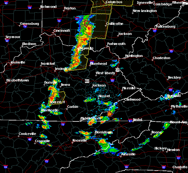 Radar Image for Severe Thunderstorms near Mount Sterling, KY at 6/10/2020 6:06 PM EDT