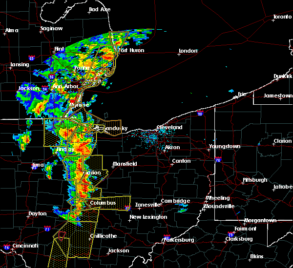 Radar Image for Severe Thunderstorms near Woodville, OH at 6/10/2020 6:08 PM EDT