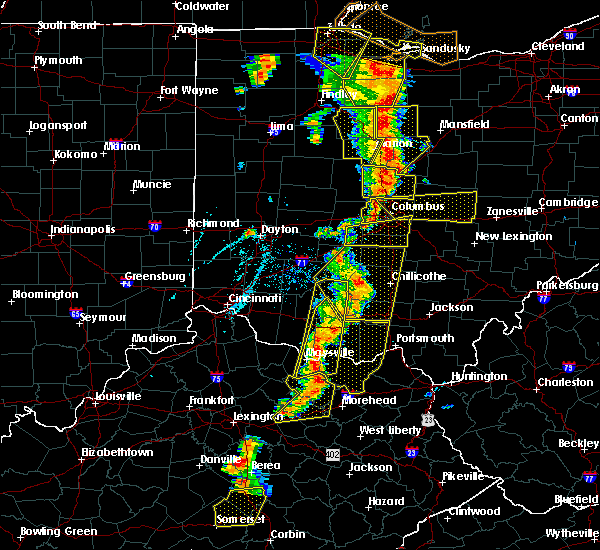 Radar Image for Severe Thunderstorms near Bentonville, OH at 6/10/2020 6:12 PM EDT