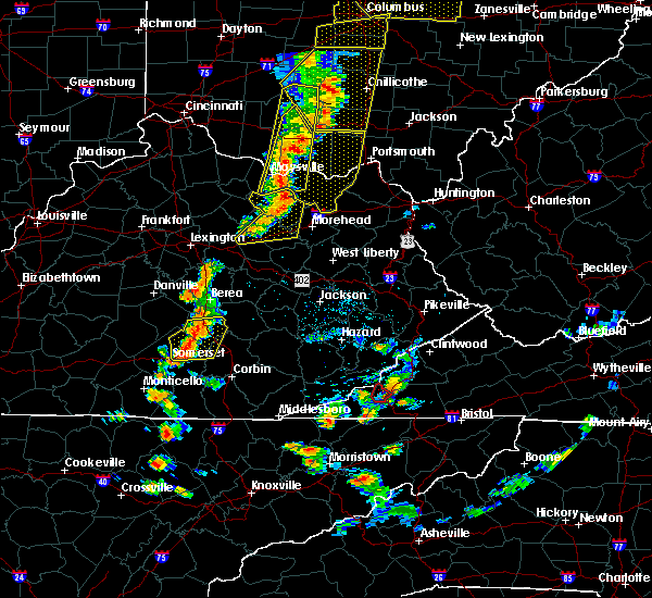 Radar Image for Severe Thunderstorms near McKee, KY at 6/10/2020 6:14 PM EDT